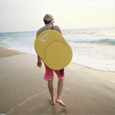 כסא ים מתקפל בחוף הים